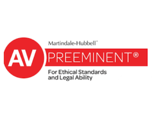 Martindale hubbelll preeminent for ethical standars and legal ability